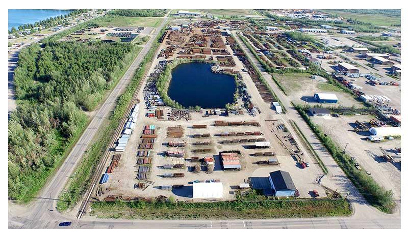 Largest Alaska Steel Pipe Yard