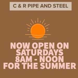 Open Saturdays 8 to Noon